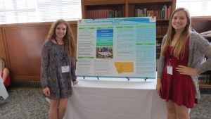 NC high school students Zoe and Nadina explain research on isolated Arctic fish species found in the northwest