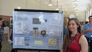EWU Freshman Jessica Blackwood explains her classes geology research