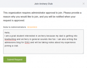 archery club request form