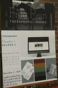 poster with font choice and web design