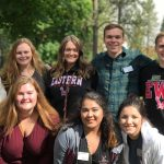 Pathways students and mentors smiling outside