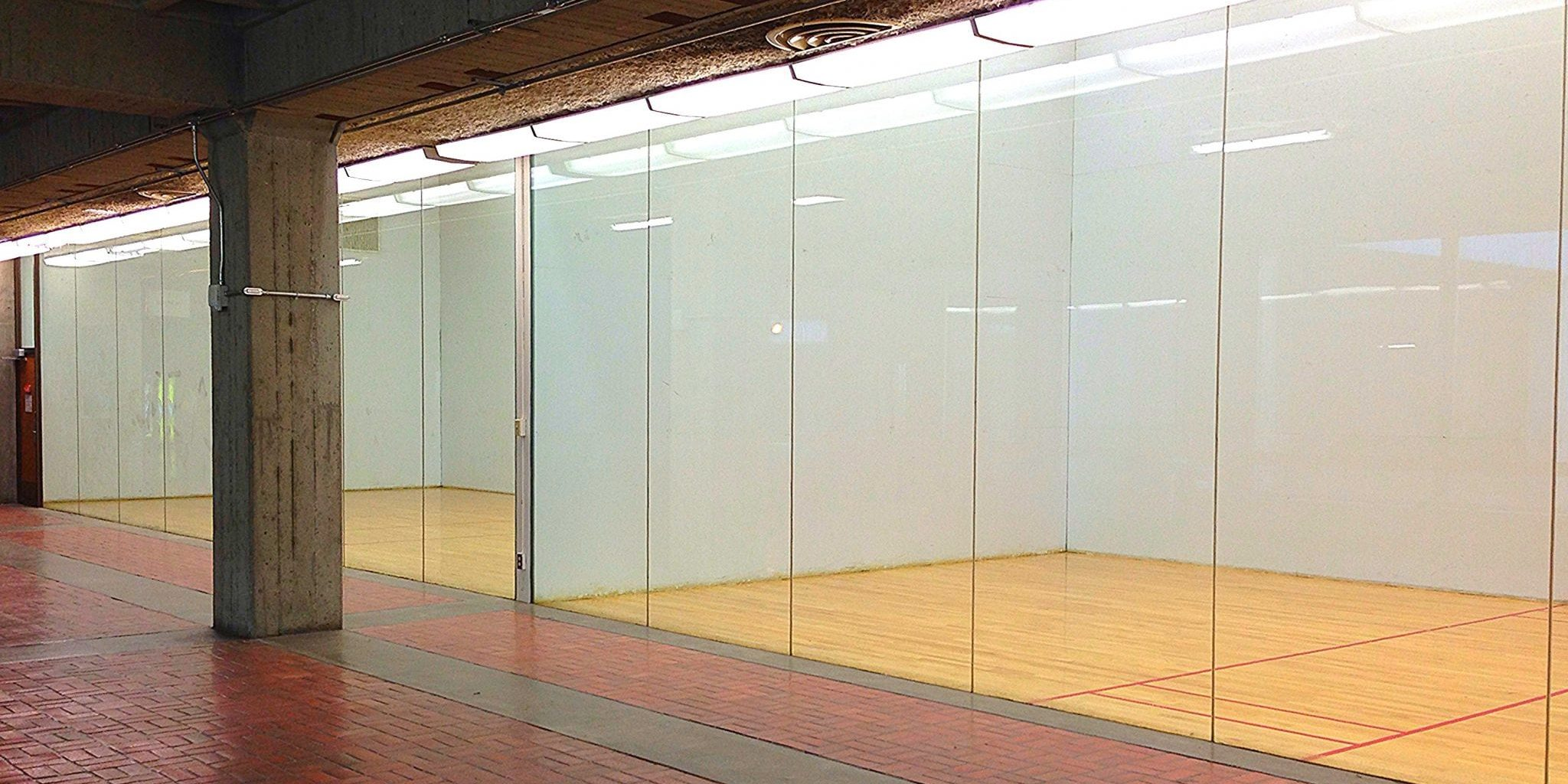 the racquetball courts