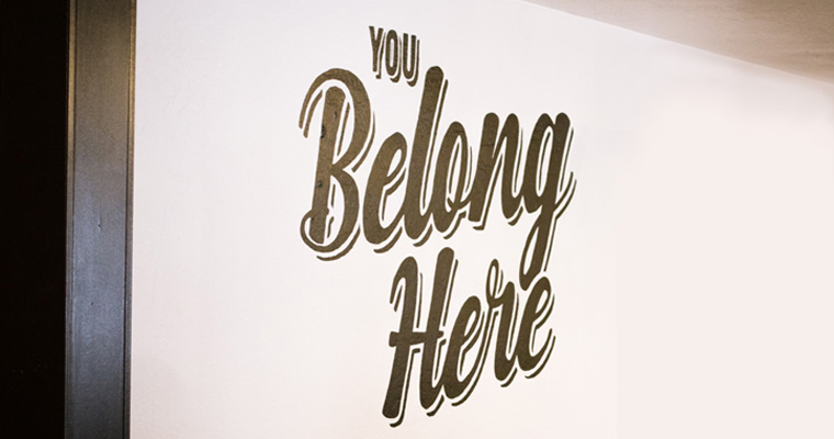 you belong here sign image