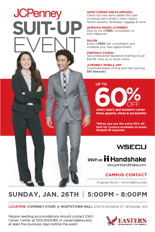 JC Penney Suit Up Event Graphic