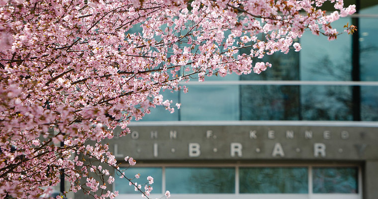 EWU Campus Library in Spring