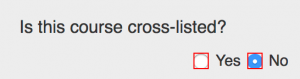 """""""Is this course cross-listed?"""" field"""