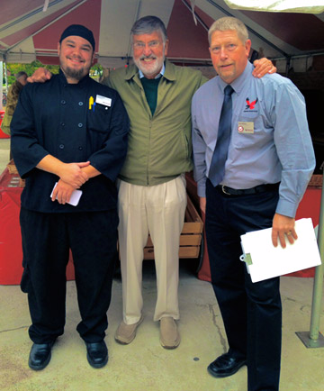Chef Estevan, Dave Graham, and Dining Director Dave McKay at the Express Fresh Market