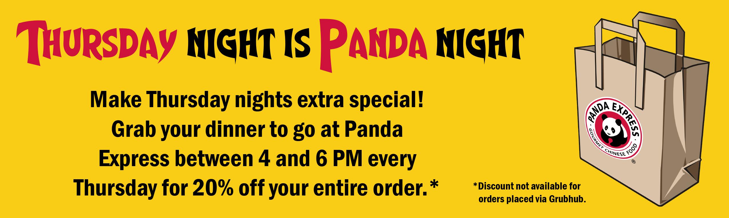 Thursday Night is Panda Night