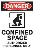 warning sign for confined spaces