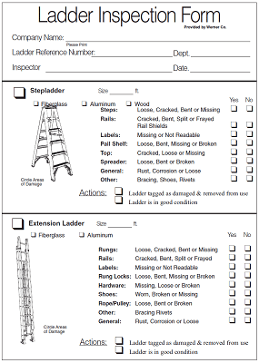 Image of the ladder inspection form front page