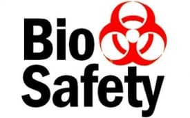 bio safety sign with biohazard sybmol