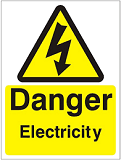 warning sign for electricity