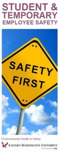 Cover image for Student and Temporary Worker Safety brochure
