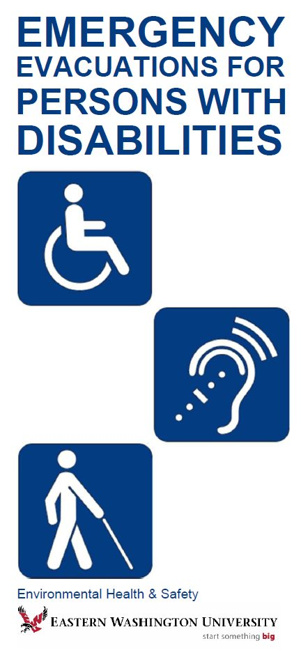 cover image for Emergency Evacuations for Persons with Disabilities brochure
