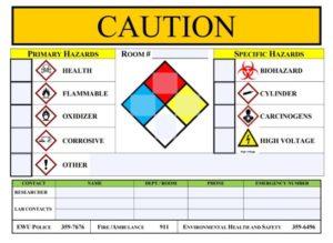 Hazard door sign image