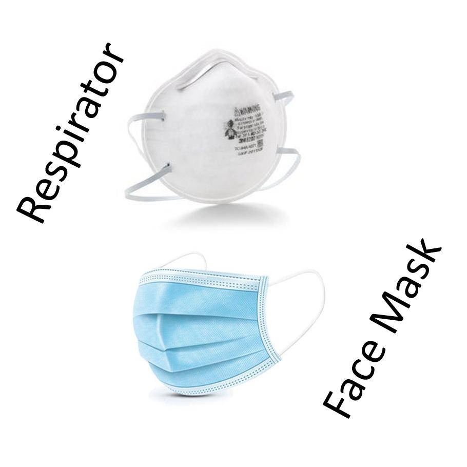 Respirator and face mask vert