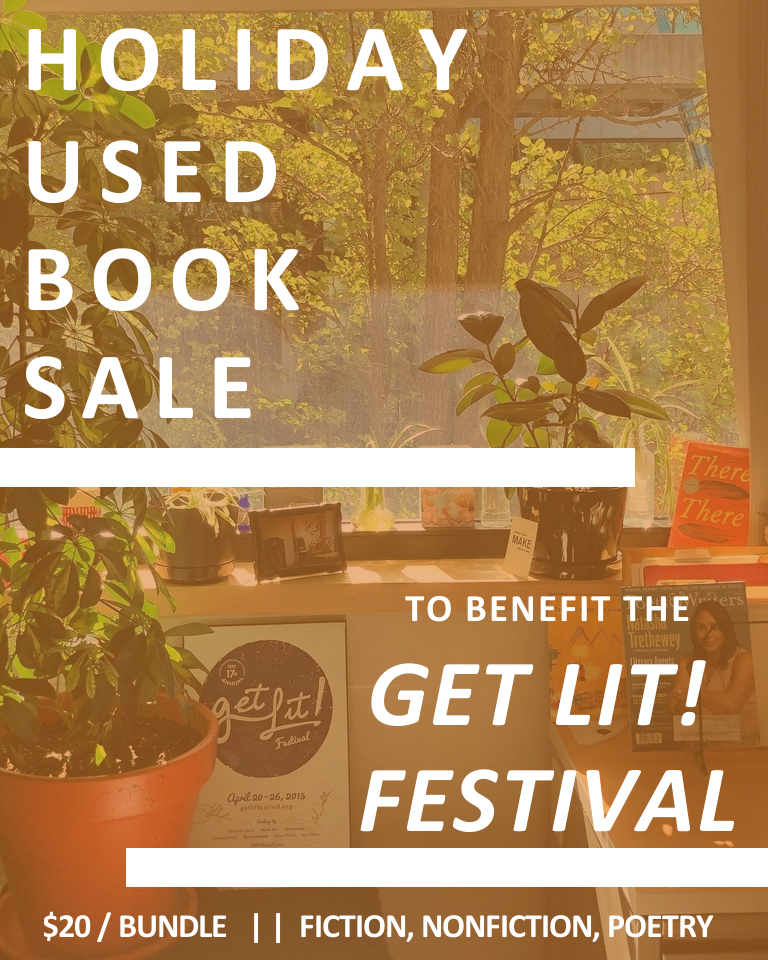 holiday used book sale to benefit get lit festival