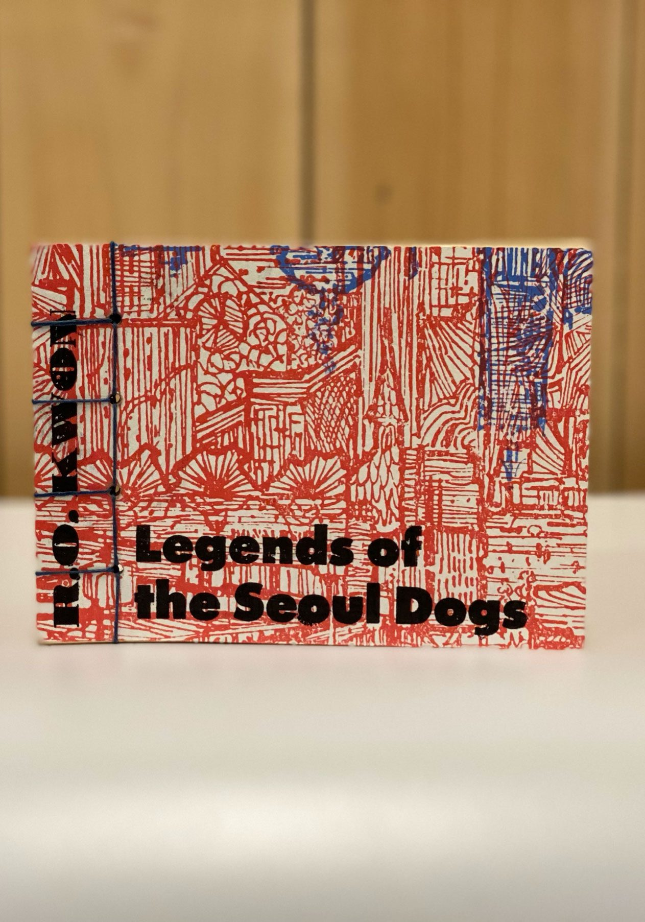 """cover of the chapbook """"Legends of the Seoul Dogs,"""" by R.O. Kwon"""