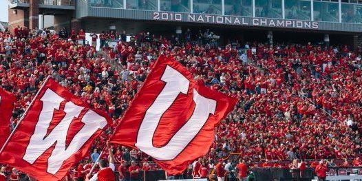 EWU flags on the football field