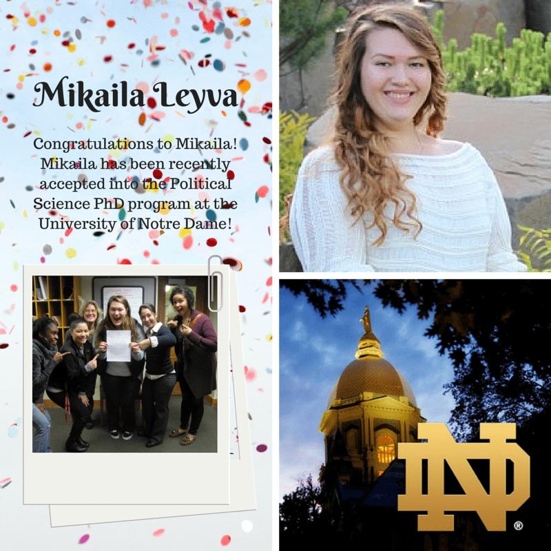 Mikaila Leyva Congratulations