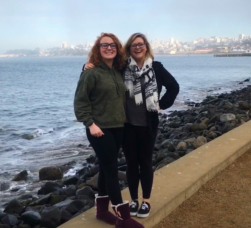 EWU McNair Scholar Theresa Lee and her mentor Dr. Lindsey Upton take a walking tour of San Francisco.