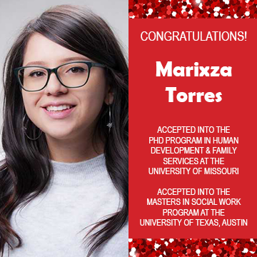 EWU McNair Scholar Marixza Torres is accepted in PhD and MSW programs!