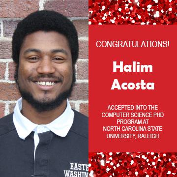 EWU McNair Scholar Halim Acosta Accepted into Computer Science PhD Program at NC State University