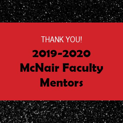 2019-2020 Faculty Mentors Thank You Header