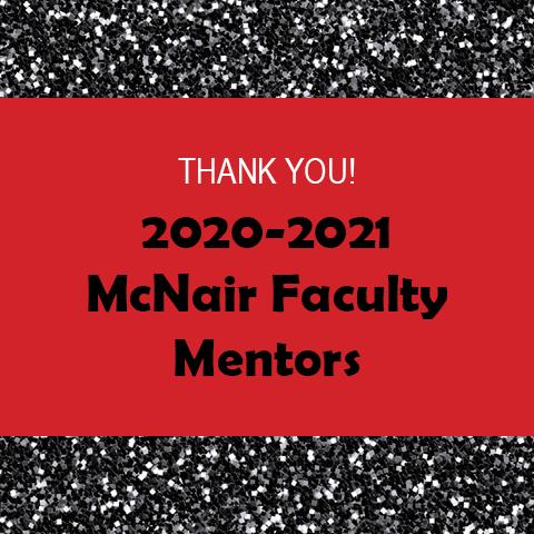 2020-2021 EWU Faculty Mentors Acknowledgement