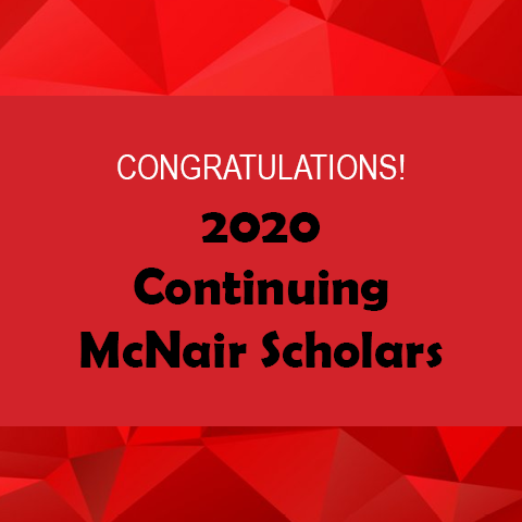 2020 Continuing McNair Scholars