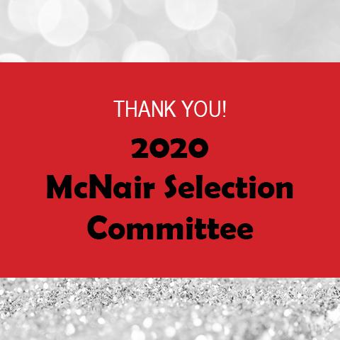 2020 McNair Selection Committee Header