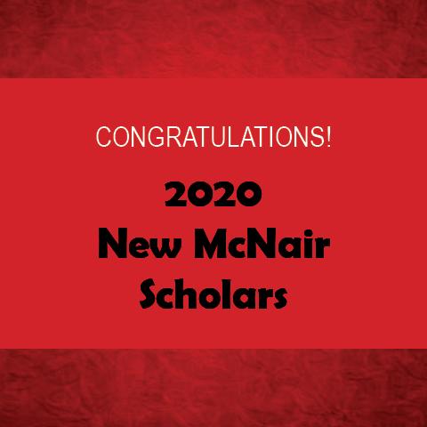 2020 New McNair Scholars Header