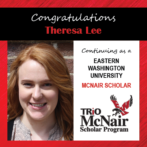 Theresa Lee McNair Continuing Scholar Announcements 2020