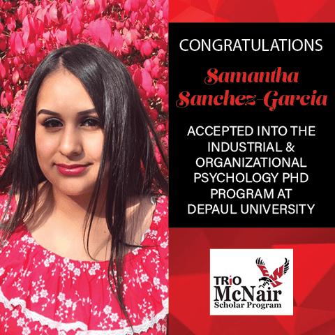 Samantha Sanchez Graduate School Acceptances 2021 DPL