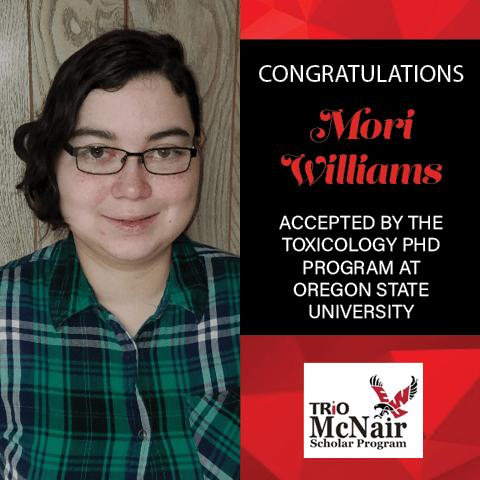 Mori Williams Graduate School Acceptances 2021 OSU