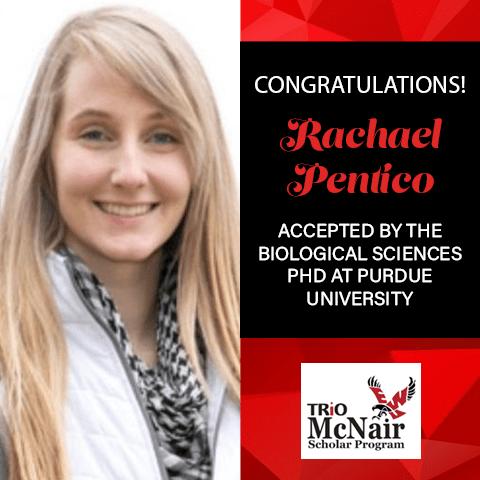 Rachael Pentico Graduate School Acceptances 2021 PU