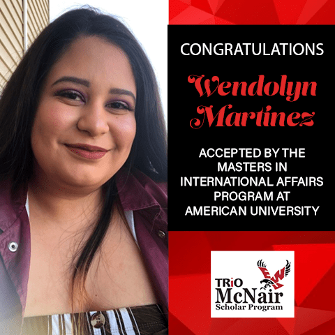 Wendolyn Martinez Graduate School Acceptances 2021 AU