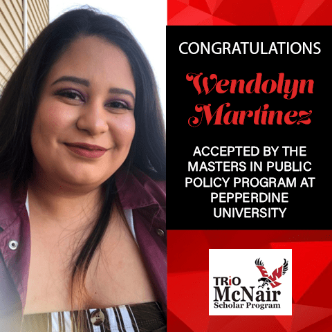 Wendolyn Martinez Graduate School Acceptances 2021 PEP