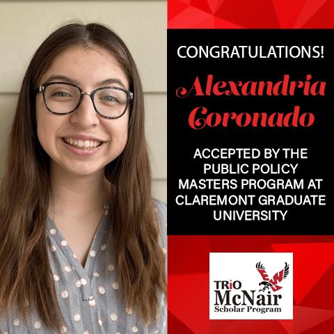 Alexandria Coronado Graduate School Acceptances 2021 CL