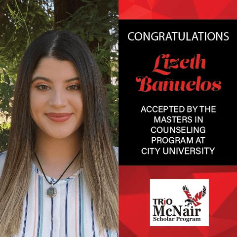Lizeth Banuelos Graduate School Acceptances 2021 CITY