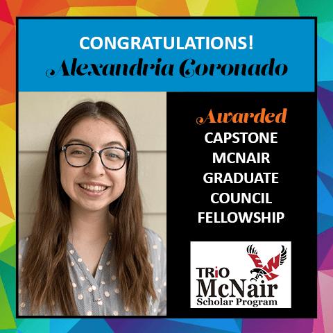 Alexandria Coronado McNair Fellowship Award 2021