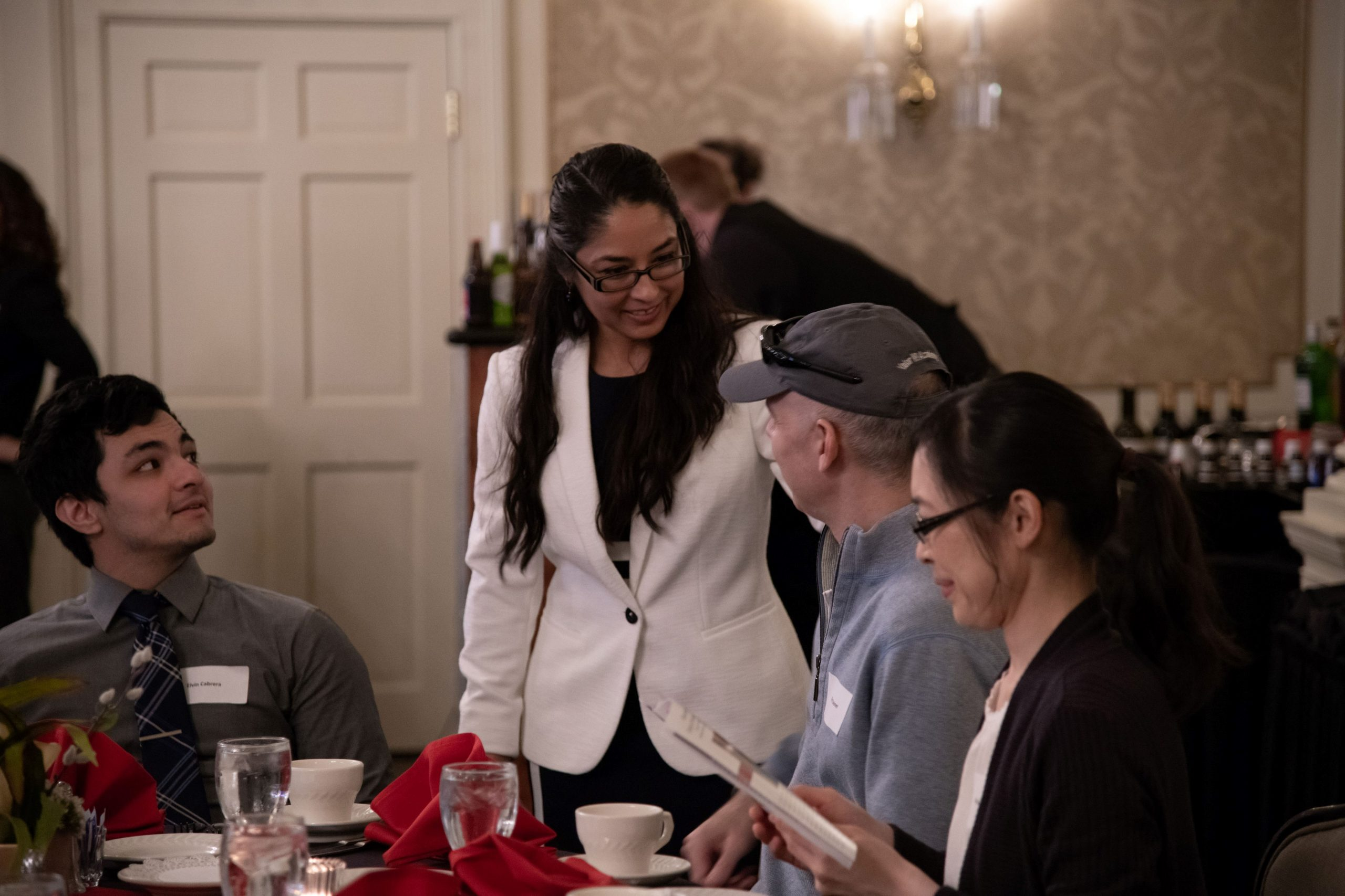 Doctora Christina Torres García with families of EWU McNair Scholars at the 2019 Spring Gathering.