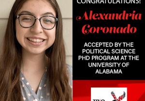 Alexandria Coronado Graduate School Acceptances 2021 AL