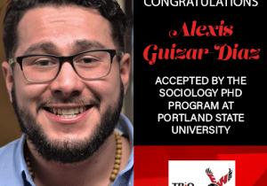 Alexis Guizar-Diaz Graduate School Acceptances 2021 PSU