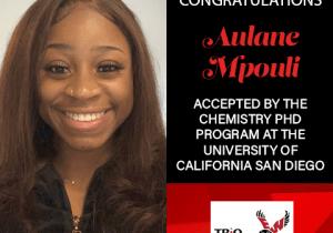 Aulane Mpouli Graduate School Acceptances 2021 UCSD