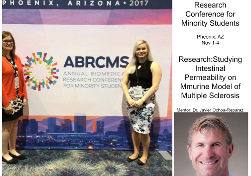 McNair Scholar Christina Ramelow presents her research at ABRCMS