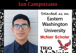 Ian Campuzano McNair Scholar Announcements 2021