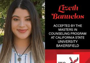 Lizeth Banuelos Graduate School Acceptances 2021 CSU