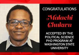 Malachi Chukwu Graduate School Acceptances 2021 WSU
