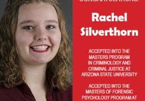 Rachel Silverthorn Grad School Acceptances Announcement 2019